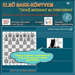Interaktív, online sakkoktató oldal